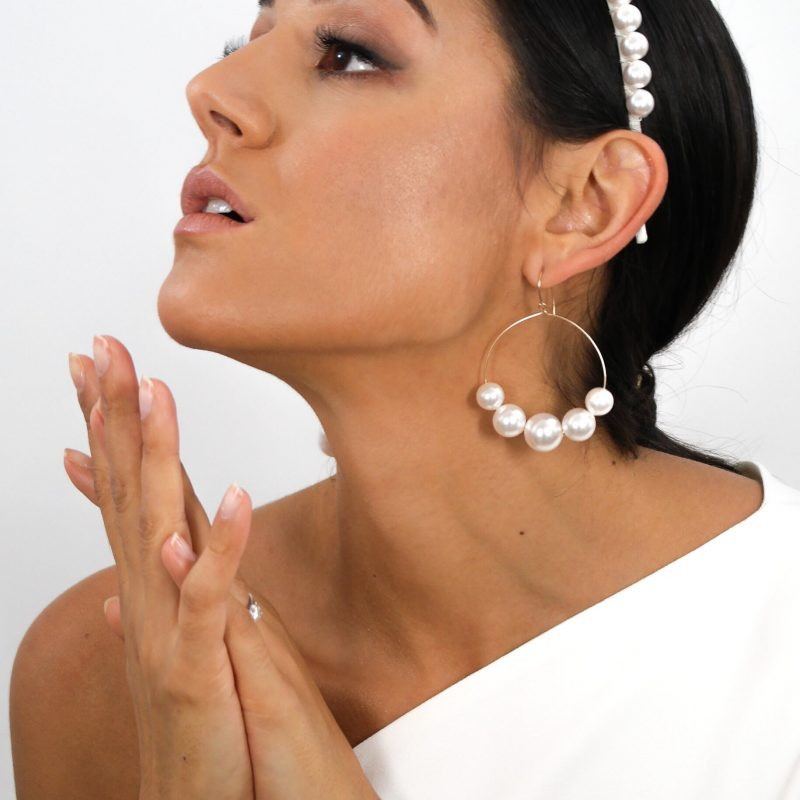 Lustrous Pearl Earrings