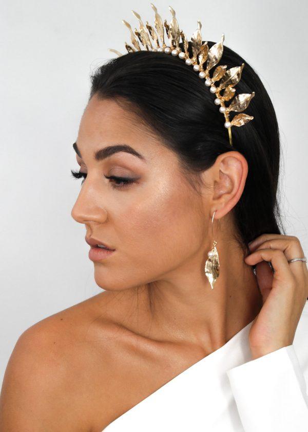 Gilded Leaf Earrings