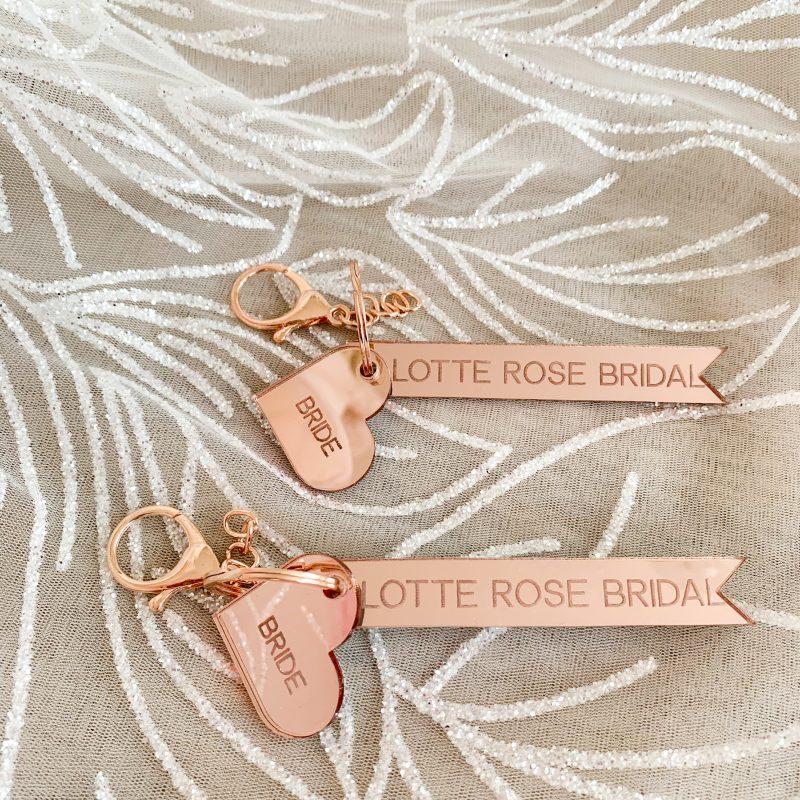 Lotte Rose Bridal Keyring