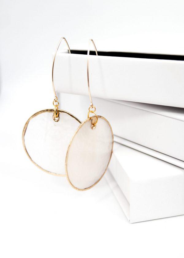 Freshwater shell earrings