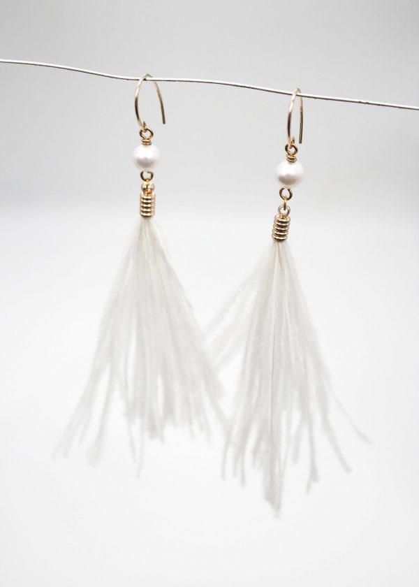 Ostrich Feather Earrings