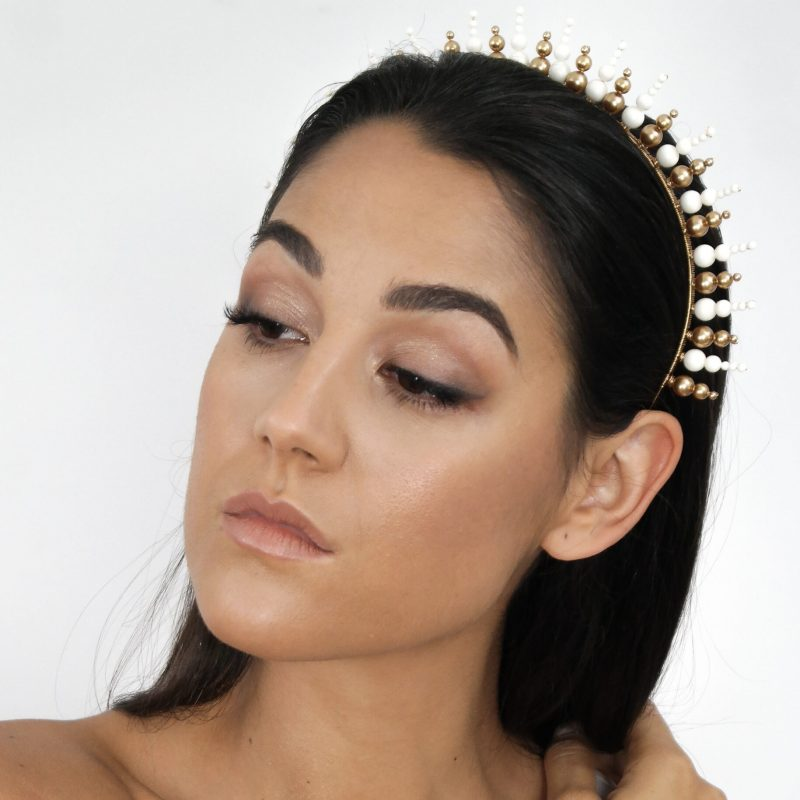 Swarovski Sunburst Crown (Gold And Ivory)