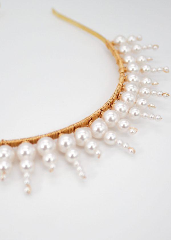 Swarovski Sunburst Crown (Pearl)