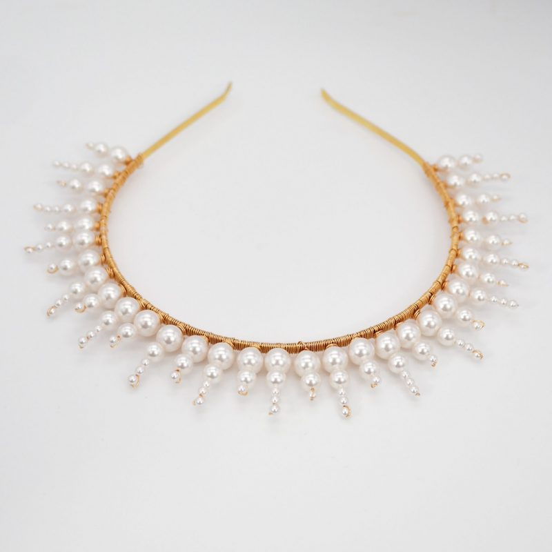 Swarovski Sunburst Crown (Pearl)