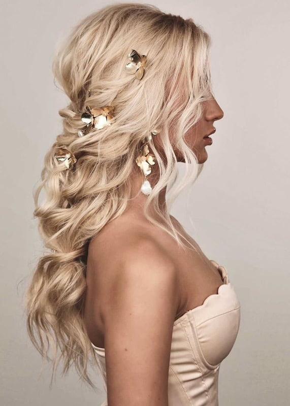 Hydrangea Hair Slides