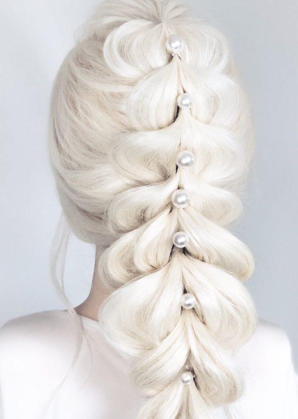Lustrous Swarovski Pearl Hairpins