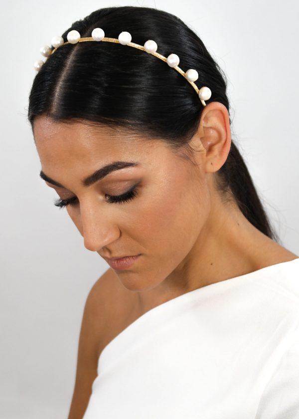 'Dotty' Freshwater Pearl Headband (Large)