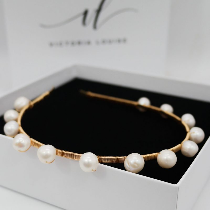 'Dotty' Freshwater Pearl Headband (Large)