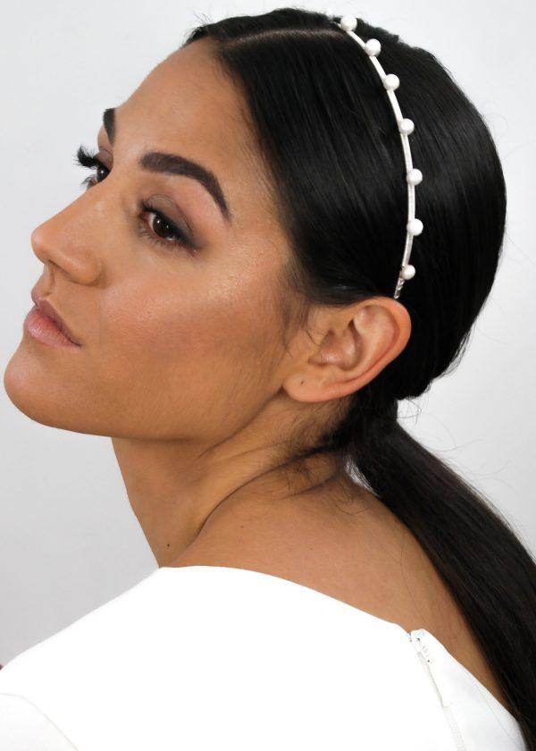 'Dotty' Freshwater Pearl Headband (Small)