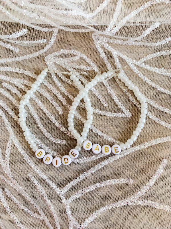Bride Babe Beaded Bracelet